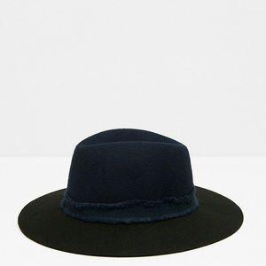 Zara wide brimmed felt hat